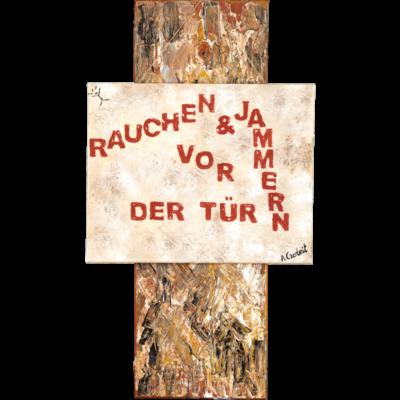 angelika_gerleit-die_querulanten_rauchen_braun_90x30_30x60
